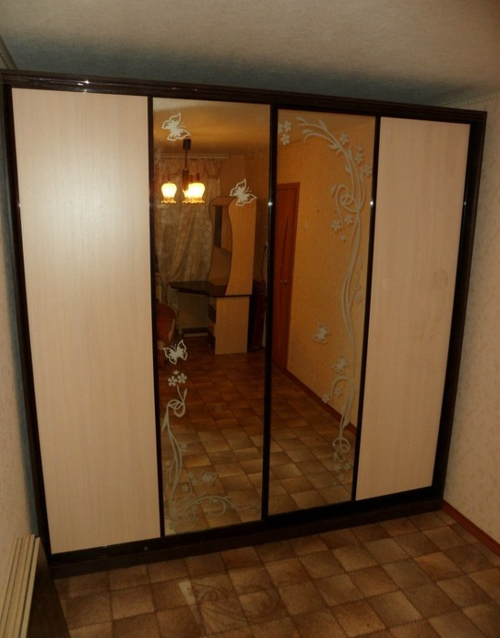 Большой шкаф-купе-Шкаф-купе с зеркалом «Модель 148»-фото2