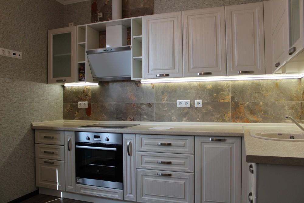 Акриловые кухни-Кухня из пластика «Модель 132»-фото2