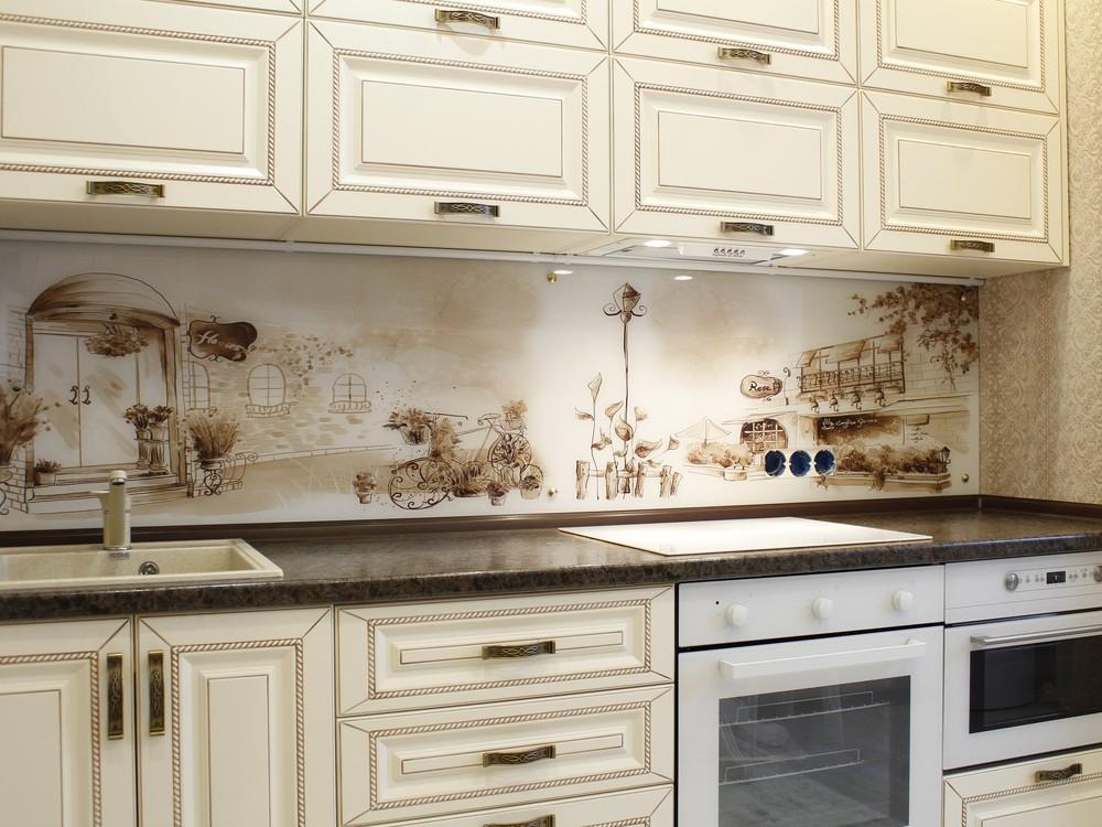 Белый кухонный гарнитур-Кухня МДФ в ПВХ «Модель 140»-фото1