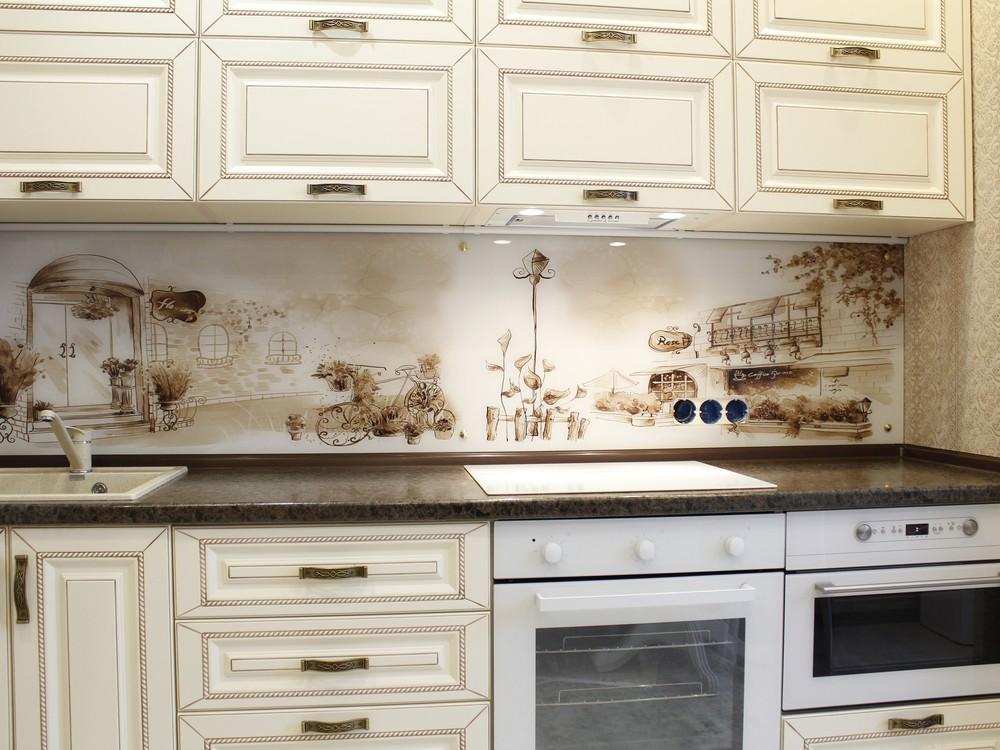 Белый кухонный гарнитур-Кухня МДФ в ПВХ «Модель 140»-фото3