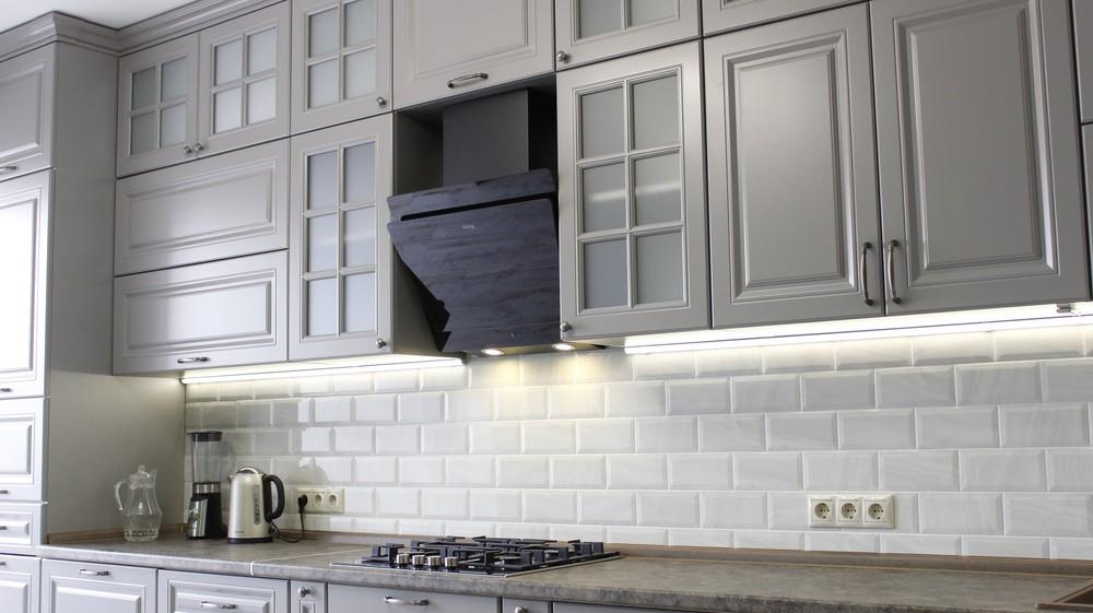 Белый кухонный гарнитур-Кухня МДФ в ПВХ «Модель 183»-фото6