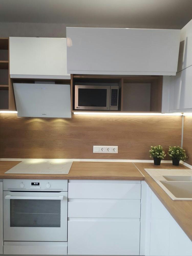 Белый кухонный гарнитур-Кухня МДФ в эмали «Модель 171»-фото4