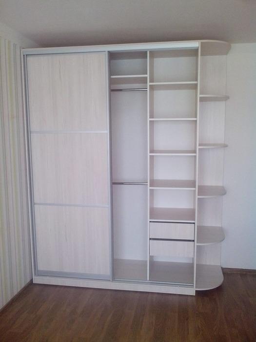 Белые шкафы-купе-Шкаф-купе из ЛДСП «Модель 27»-фото2