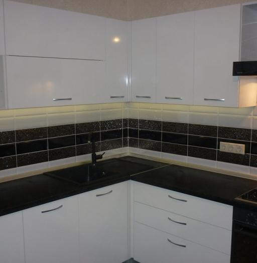 Белый кухонный гарнитур-Кухня МДФ в ПВХ «Модель 304»-фото6