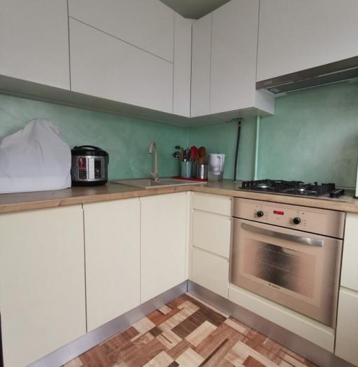 Белый кухонный гарнитур-Кухня МДФ в эмали «Модель 173»-фото4
