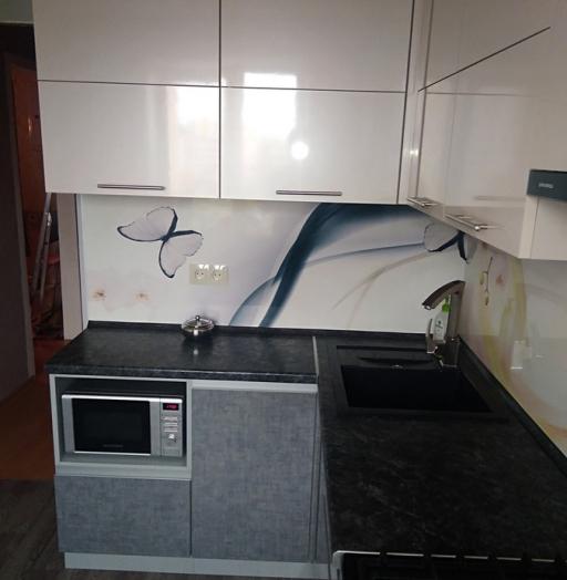 Белый кухонный гарнитур-Кухня из пластика «Модель 191»-фото5