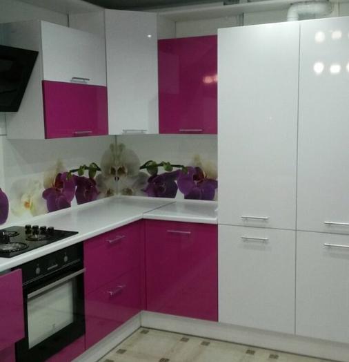Белый кухонный гарнитур-Кухня из пластика «Модель 395»-фото4