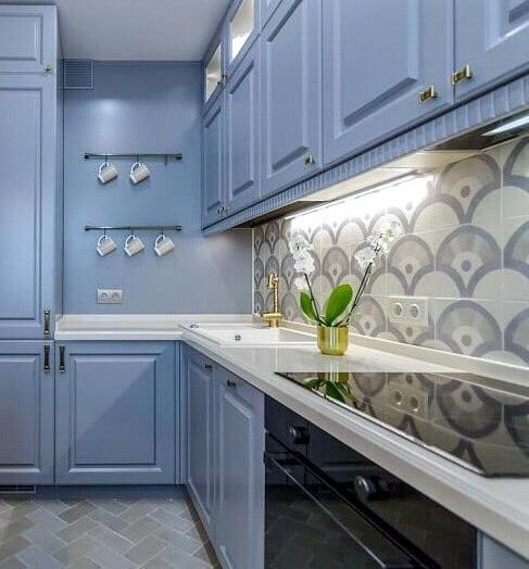 -Кухня МДФ в эмали «Модель 420»-фото11