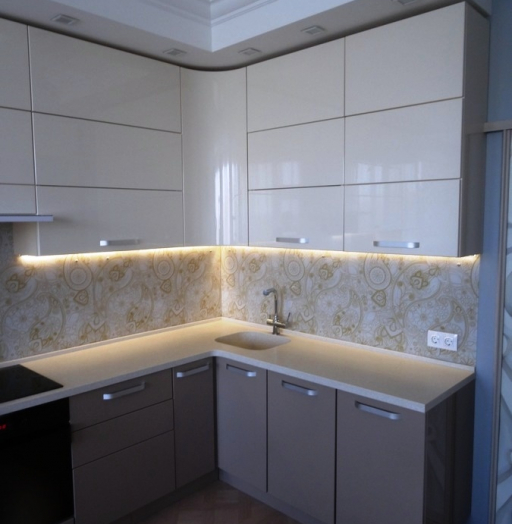 Встроенная кухня-Кухня МДФ в ПВХ «Модель 484»-фото7