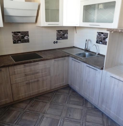 Белый кухонный гарнитур-Кухня МДФ в ПВХ «Модель 514»-фото7
