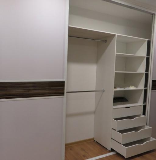Белые шкафы-купе-Шкаф-купе из ЛДСП «Модель 396»-фото4