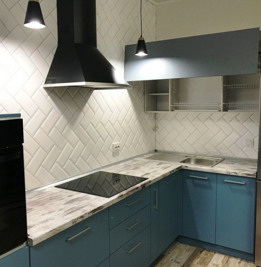 -Кухня из пластика «Модель 373»-фото5