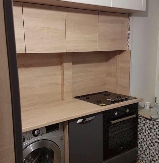 Встроенная кухня-Кухня МДФ в ПВХ «Модель 61»-фото4