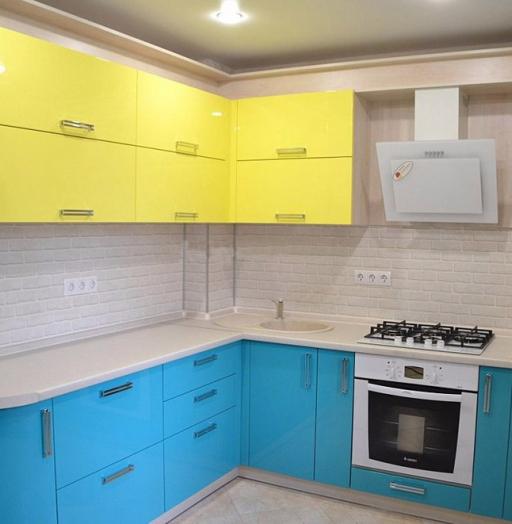 Акриловые кухни-Кухня МДФ в эмали «Модель 167»-фото7