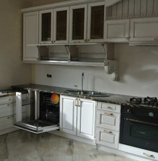 Белый кухонный гарнитур-Кухня из массива «Модель 179»-фото10