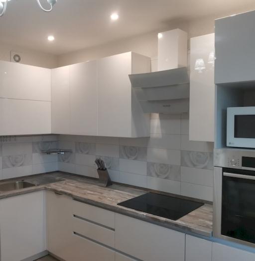 Белый кухонный гарнитур-Кухня МДФ в ПВХ «Модель 574»-фото8