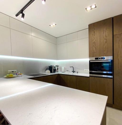 Белый кухонный гарнитур-Кухня МДФ в эмали «Модель 618»-фото10