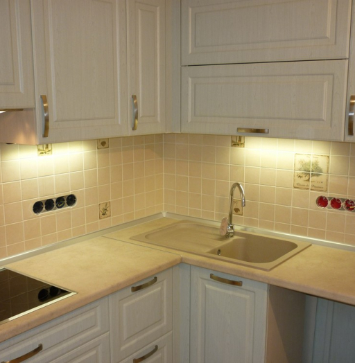 Белый кухонный гарнитур-Кухня МДФ в ПВХ «Модель 290»-фото10